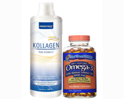 KOLLAGEN COLAGENO VITAMINA C + ALASKA SALMON OIL 180 CAPS